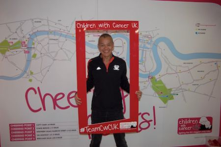 David running for the Children with Cancer UK