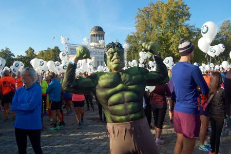 The Hulk at the Breakfast Run