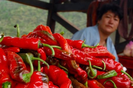 Chillies at market place