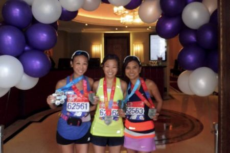 3 ladies after their finish at the hotel